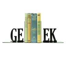 Geek Metal Bookends